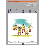 Alfred's Basic Piano Library Technic Complete Book 1
