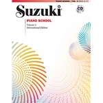Suzuki Piano School New International Edition Piano Book and CD Volume 3