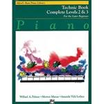 Alfred's Basic Piano Library Technic Book Complete 2 & 3