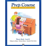 Alfred's Basic Piano Prep Course Theory Book E