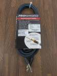 "PROformance PRP10R 10'  Right Angle Hot Shrink 1/4"" to 1/4"" Instrument Cable"