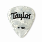 80713 Taylor Celluloid 351 Picks White Pearl 0.71mm 12-Pack