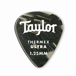 80717 Taylor Premium Darktone 351 Thermex Ultra Picks Black Onyx 1.25mm 6-Pack