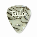 80734 Taylor Celluloid 351 Picks Abalone 0.46mm 12-Pack