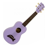 Kala Ukuleles MKSDSOLID Soprano Ukulele with Dolphin Bridge