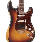 Vintage Guitars V6HMRSB Strat Style Electric Distressed HSS