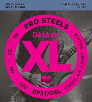 DADDARIO EPS170SL Pro Steels Reg Light 45-100 Bass Set