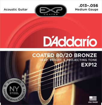 DADDARIO EXP12 Acoustic Guitar Set Exp 80/20 Medium