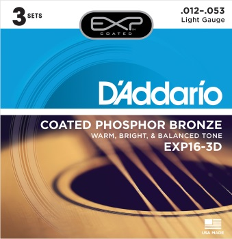 DADDARIO EXP16 Acoustic Guitar Set Phos Bronze Lite
