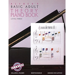 Alfred's Basic Adult Piano Course Theory Book 3