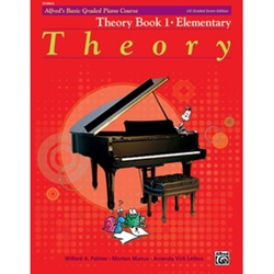 Alfred's Basic Graded Piano Course Theory Book 1