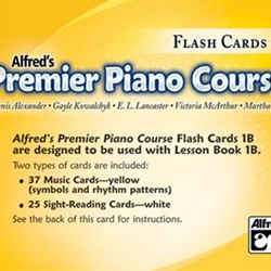 Alfred Premier Piano Course Flash Cards 1B