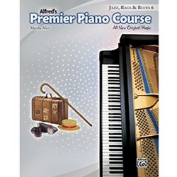 Alfred Premier Piano Course Jazz, Rags & Blues Book 6