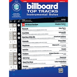 Billboard Top Tracks Instrumental Solos for Strings Violin