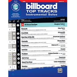 Billboard Top Tracks Instrumental Solos for Strings- Cello