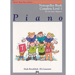 Alfred's Basic Piano Library Notespeller Complete Book 1