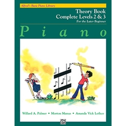 Alfred's Basic Piano Library Theory Book Complete 2 and 3