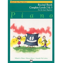 Alfred's Basic Piano Library Recital Book Complete 2 & 3