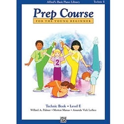 Alfred's Basic Piano Library Prep Course Technic Book E