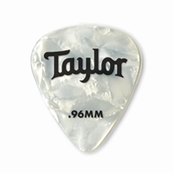 80714 Taylor Celluloid 351 Picks White Pearl 0.96mm 12-Pack