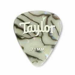 80735 Taylor Celluloid 351 Picks Abalone 0.71mm  12-Pack