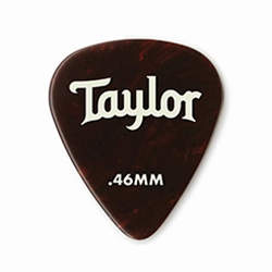 80774 Taylor Celluloid 351 Picks Tortoise Shell 0.46mm  12-Pack